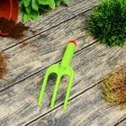 Вилка посадочная, длина 21 см, пластиковая, зелёная