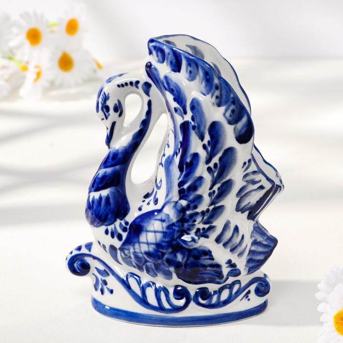 Салфетница «Лебедь», гжель