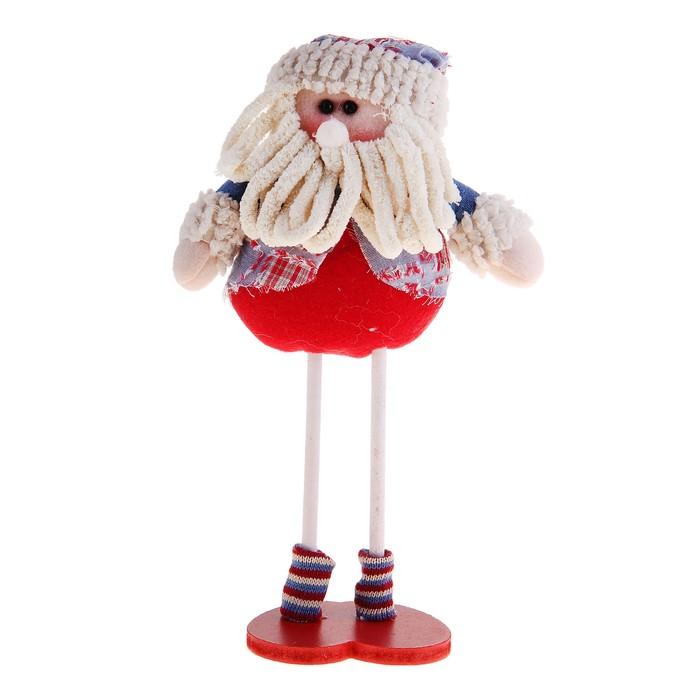 """Мягкая игрушка """"Дед Мороз на ножках"""" (деним)"""