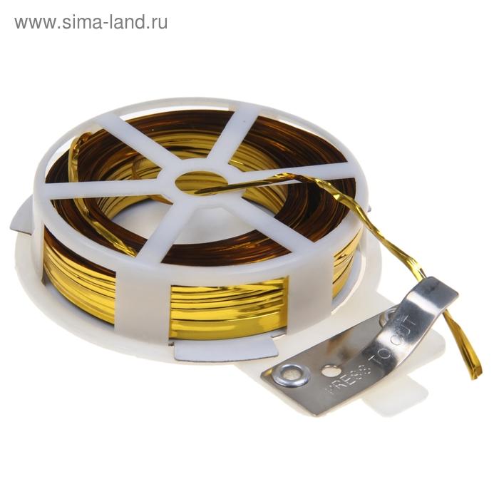 Проволока подвязочная, 30 м, жёлтая