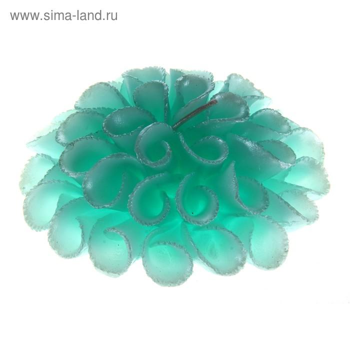 """Свеча восковая """"Весенний цветок"""", цвет нежно-зеленый"""