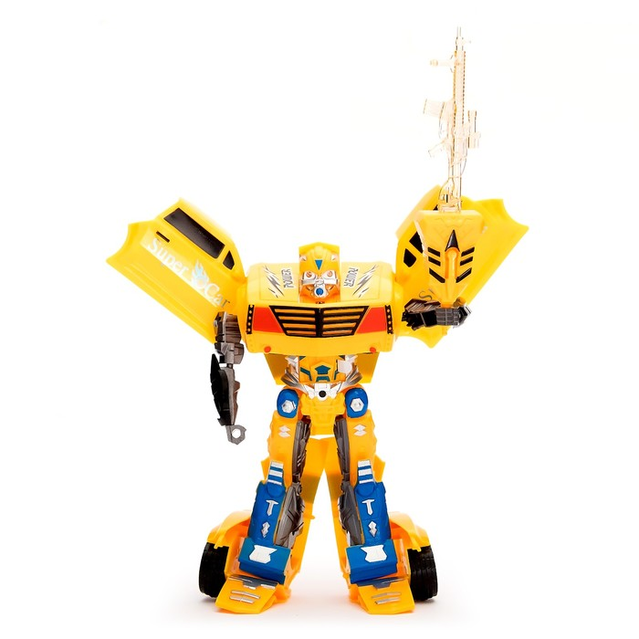 Робот-трансформер «Гонка», световые и звуковые эффекты, работает от батареек