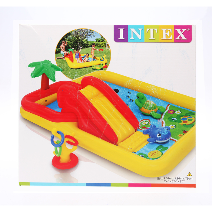 """Игровой центр, надувной """"Океан"""", с распылителем, 254х196 х79 см, от 3 лет 57454NP INTEX"""