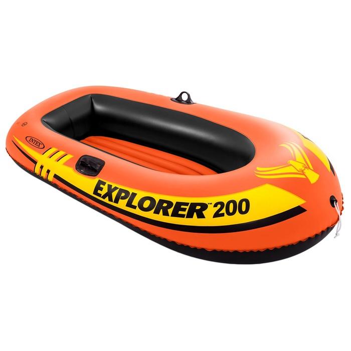 Лодка Explorer 200, 2 местная, 185 х 94 х 41 см, от 6 лет, до 95 кг, 58330NP INTEX