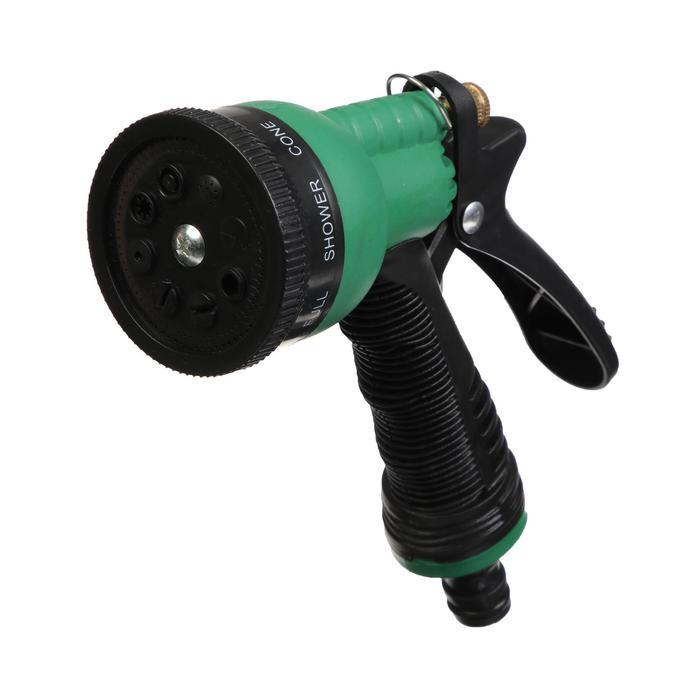 Пистолет-распылитель, 8 режимов, штуцер, прорезиненная ручка, ABS-пластик