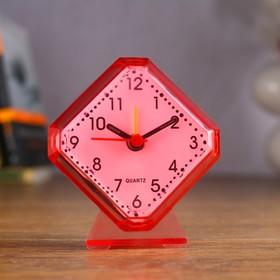 Будильник 'Ромбик' на подставке, 9х8 см микс Ош