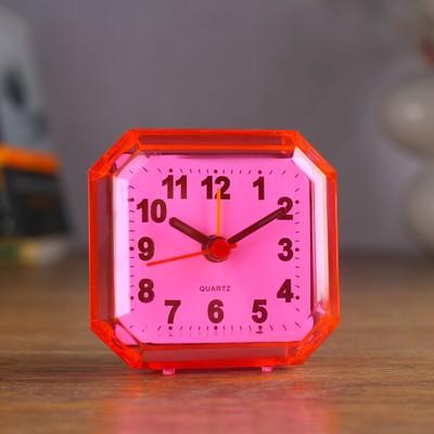 "Будильник ""Прямоугольник"", 7х6.5 см микс"