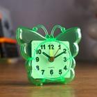 "Alarm clock ""Butterfly"", transparent, 9х8 cm mix"