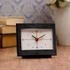 """Alarm clock """"Classic"""", black, hands glow in the dark, 10х9 cm mix"""