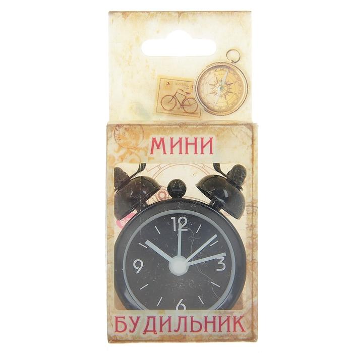 """Будильник мини """"Пробуждение"""", цвет черный"""