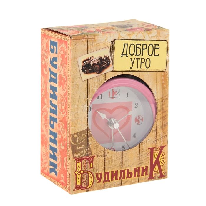 """Будильник """"Геометрия любви"""", цвета МИКС"""