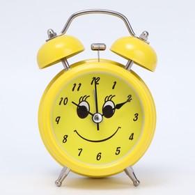 "Будильник ""Смайлик"", d=8 см, желтый микс"