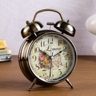 "Alarm clock ""Mail envelope"", d=11.5 cm, bronze,"