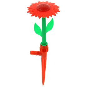 Распылитель-дождеватель, 29 см, пика, штуцер под шланг, пластик, цвет МИКС, «Цветочек»