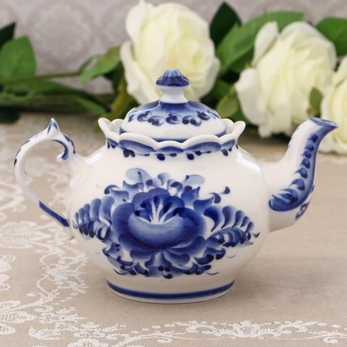 Чайник «Хуторок», H=13,5 см, гжель