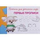 """Прописи-раскраска для детского сада """"Первые прописи"""""""