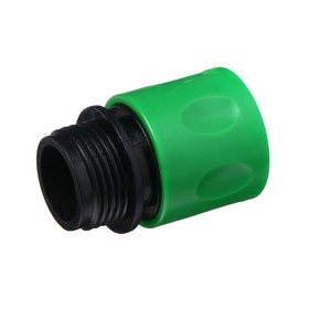 "Connector, 3/4"" (19 mm), external thread, ABS plastic"