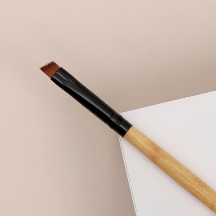 Кисть для макияжа универсальная, скошенная, 13см