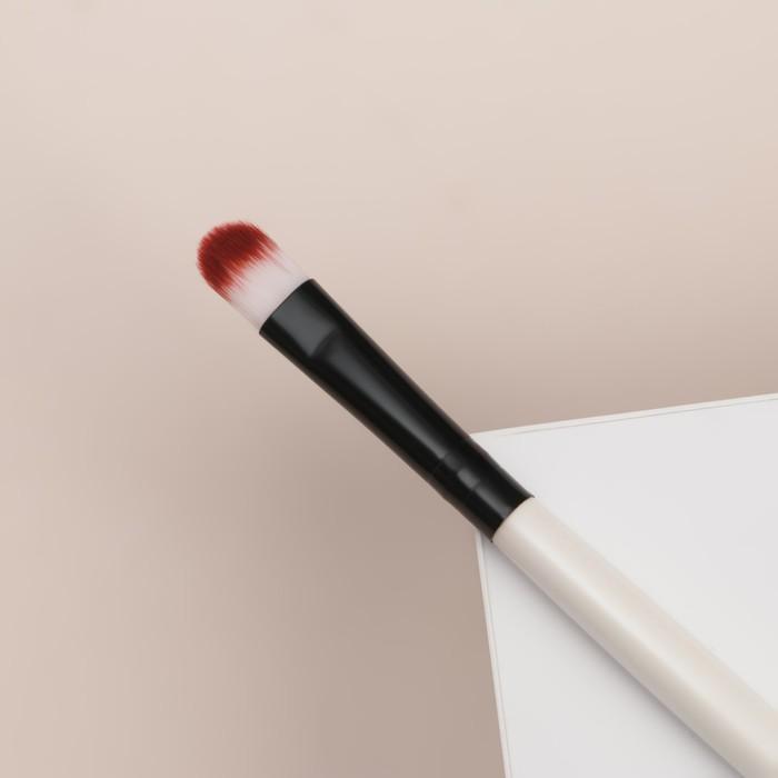 Кисть для макияжа универсальная, скруглённая, 13см, цвет чёрный