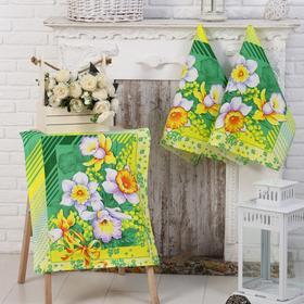 Полотенце вафельное «Утренние цветы» 50х60 см
