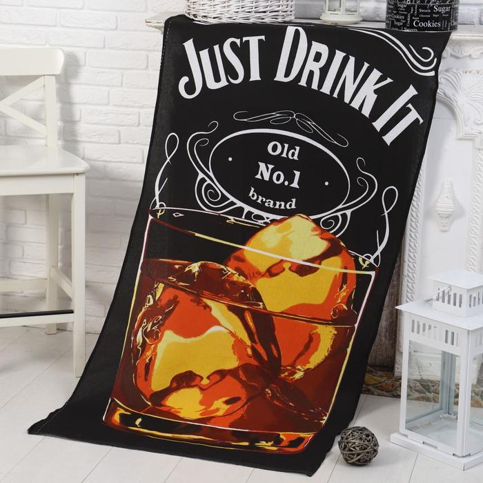 Полотенце -Панно Виски (пакет) 80х150 см, вафля, хлопок 100%, 170г/м2 - фото 282125490