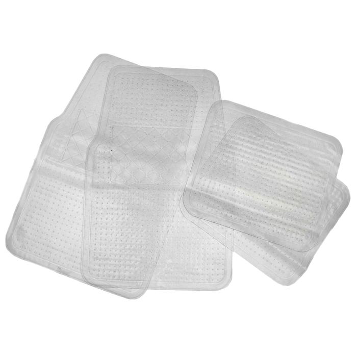 Набор ковриков для авто. 4 шт, 62,5х4 см и 34,5х43 см, прозрачный