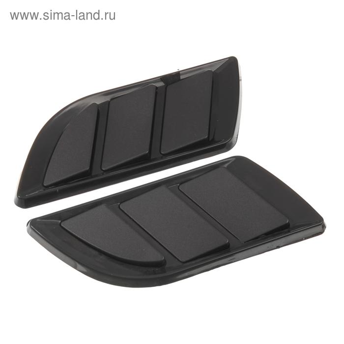 Набор накладок на кузов автомобиля 2 шт OB-616, черный хром