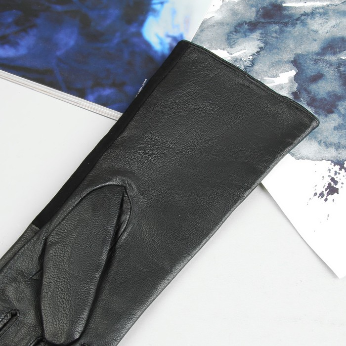 Перчатки женские, р-р 7-8, подклад - нейлон, длина-30см, чёрный