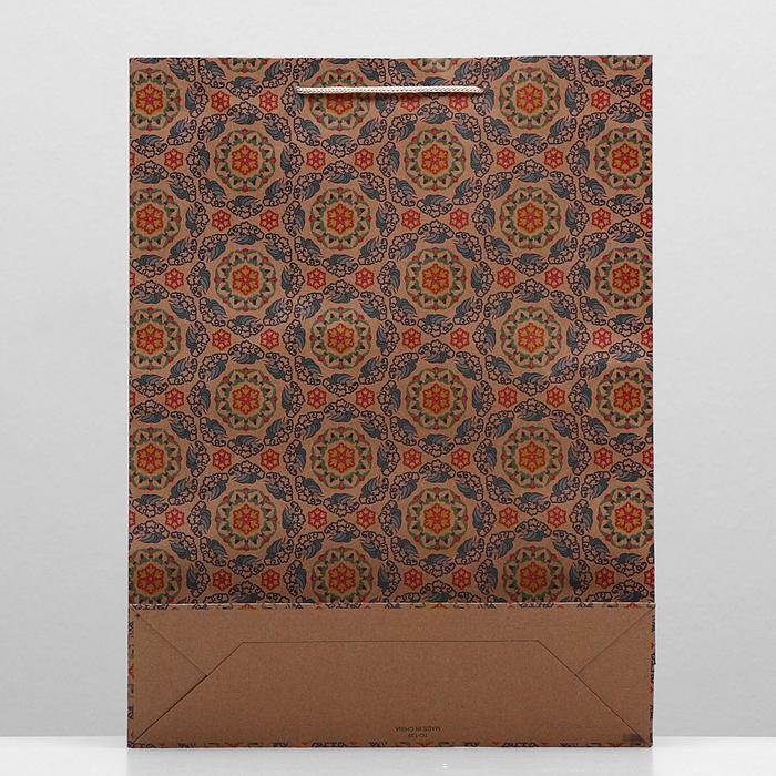 """Пакет крафт """"Калейдоскоп"""", 31,5 х 9,5 х 41,5 см"""