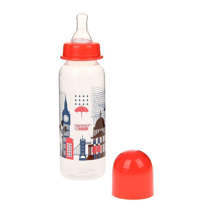 Бутылочка для кормления «Я люблю», 250 мл, от 0 мес., цвета МИКС