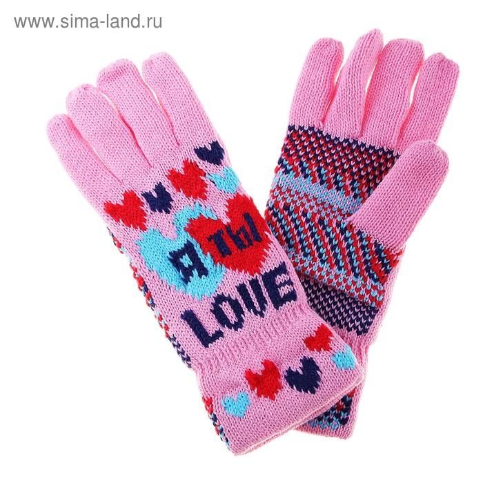 """Перчатки вязаные текстиль """"Я и Ты"""""""