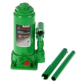 Jack hydraulic bottle TUNDRA basic 6 tons, lifting height 195-380 mm