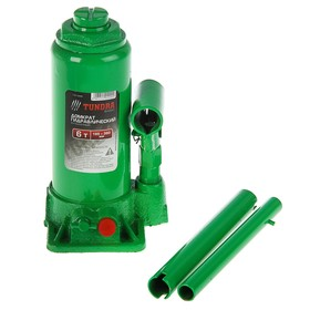 Jack hydraulic bottle TUNDRA basic case, 6 tons, lifting height 195-380 mm