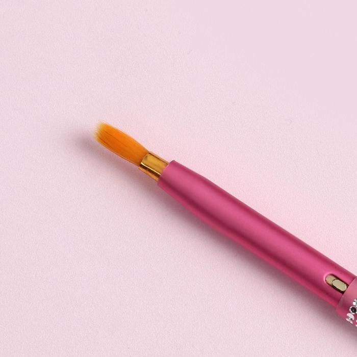 Кисть для макияжа/помады, компактная, 7см, цвет МИКС
