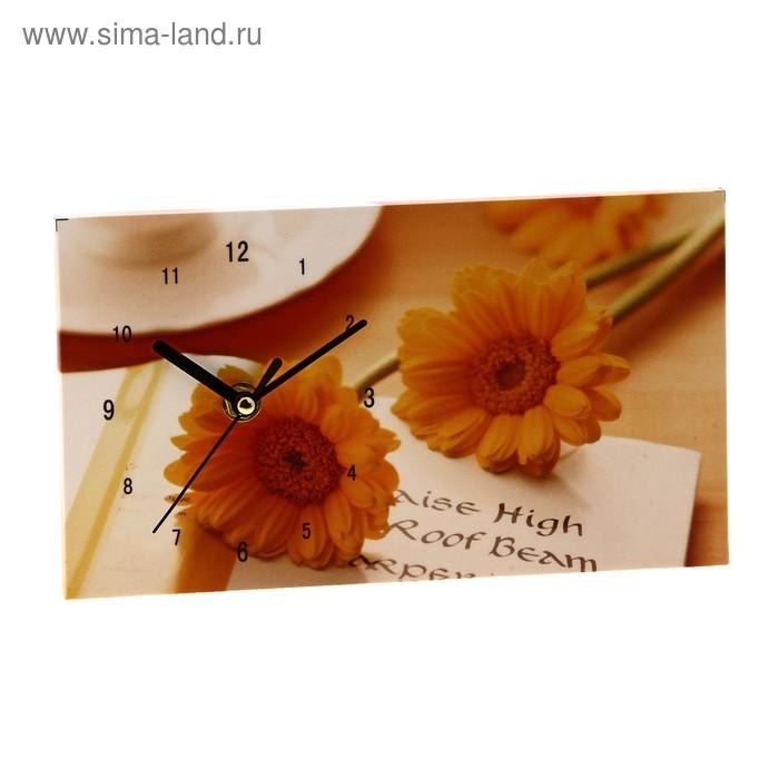 """Часы настольные """"Желтые цветочки"""""""