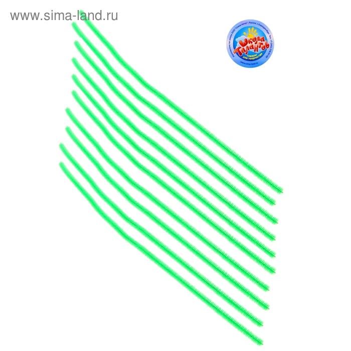 Проволока с ворсом для поделок и декорирования (набор 10 шт), цвет зеленый