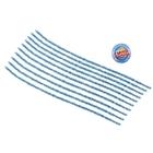 Проволока с ворсом для поделок и декорирования (набор 10 шт), цвет голубой блеск