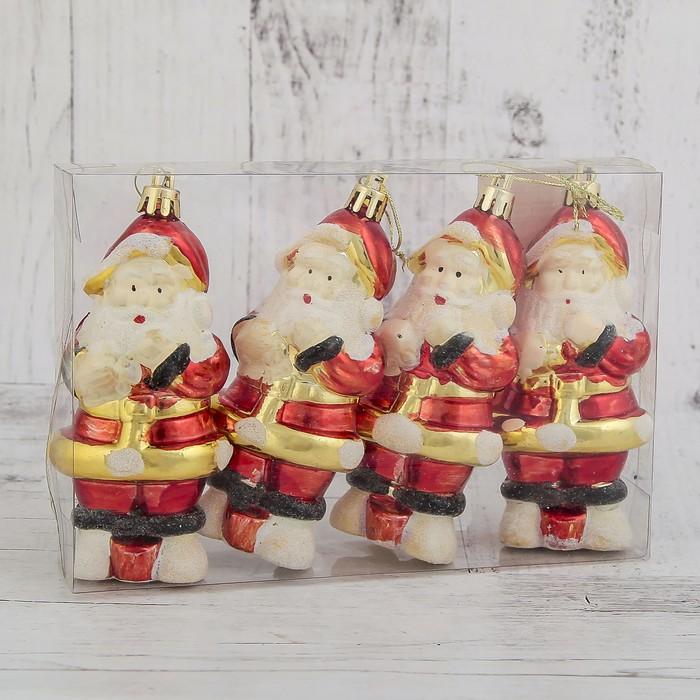 """Ёлочные игрушки """"Дед Мороз"""" (набор 4 шт.)"""