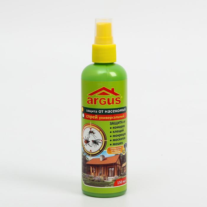 Лосьон-спрей ARGUS универсальный от комаров, клещей, мокрецов, слепней 150 мл