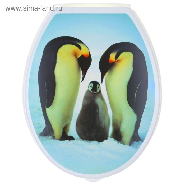 """Сиденье для унитаза """"Пингвины"""""""