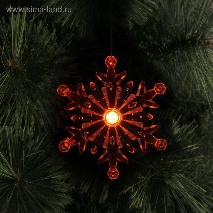"""Игрушка световая """"Снежинка"""", d=10 см, 1 LED, RGB"""