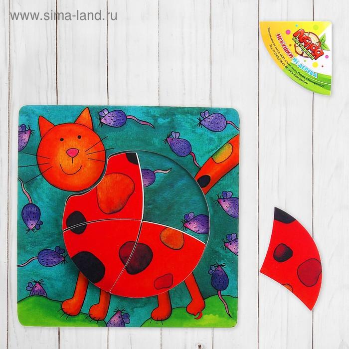 """Рамка-вкладыш """"Рыжий кот"""", 4 детали"""