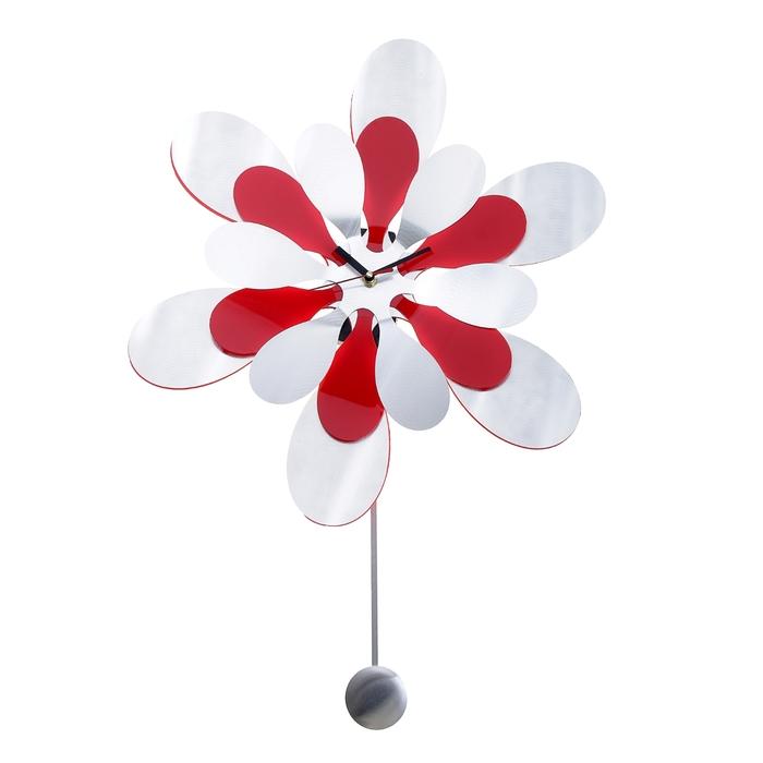 """Часы настенные интерьерные """"Лепестки овальные"""" с маятником, d=43 см"""
