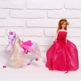 "Horse for dolls ""Unicorn"" with a doll"