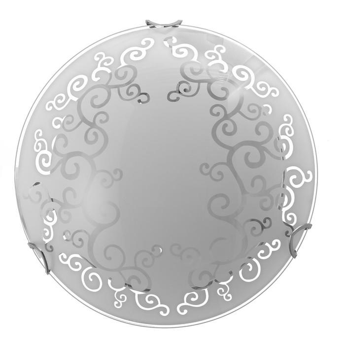 """Светильник """"Виктория"""" моллир., 1х60Вт Е27, хром, d=25 см,  h=4,5 см - фото 7932092"""