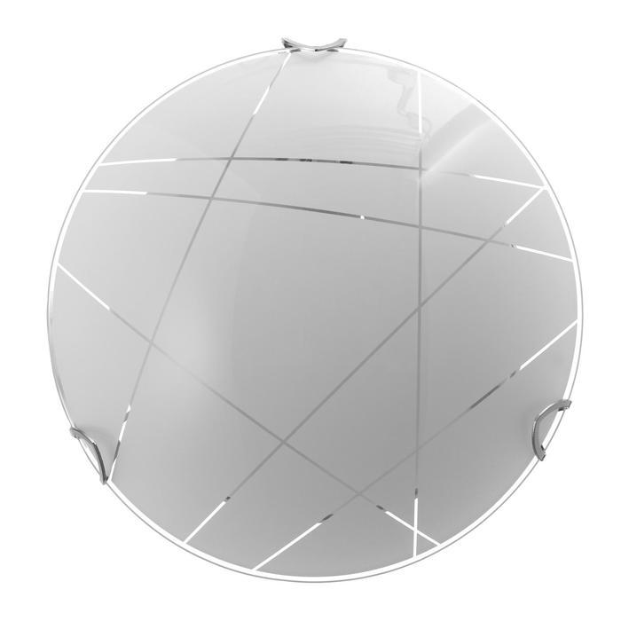 """Светильник """"Контур"""" моллир., 1х60Вт Е27, хром, d=25 см,  h=4,5 см - фото 7932137"""