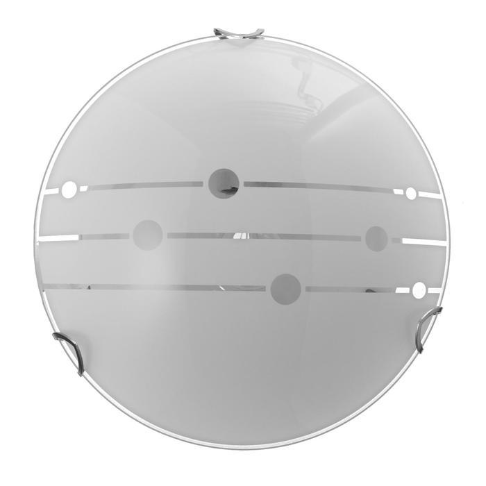 "Светильник ""Меридиан"" моллир., 1х60Вт Е27, хром, d=25 см,  h=4,5 см - фото 7932143"