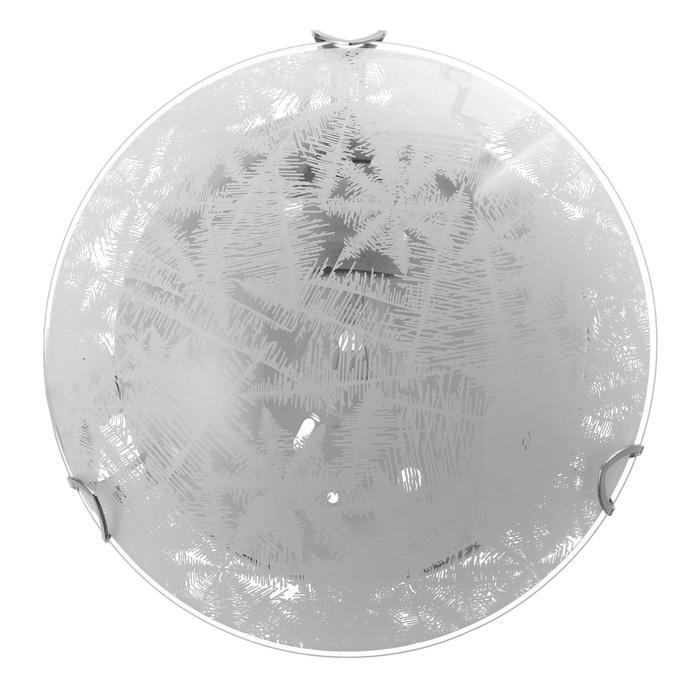 """Светильник """"Морозко"""" моллир., 1х60Вт Е27, хром, d=25 см,  h=4,5 см - фото 7932146"""