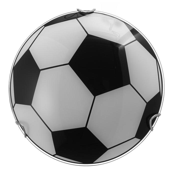 "Светильник ""Мяч"" моллир., 1х60Вт Е27, хром, d=25 см,  h=4,5 см - фото 7932149"