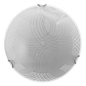 "Светильник ""Паутина"" моллир., 1х60Вт Е27, хром, d=25 см,  h=4,5 см"